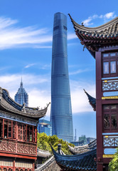 Old New Shanghai China Tower Yuyuan Garden