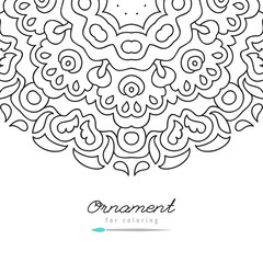 vector doodle frame for coloring, anti stress coloring book for adult, greeting card template