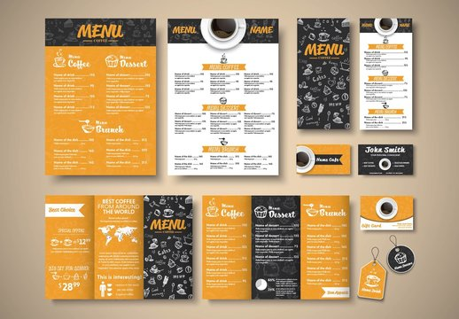 Coffee Shop Branding Layout Pack