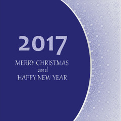 2017 MERRY CHRISTMAS. Greeting card. Design greetings, greeting cards, poster, banner.