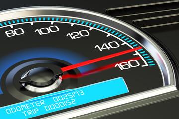 Speedometer, 3D rendering