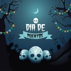 Dia de Muertos Day of the dead design EPS 10 vector