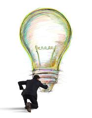 Fototapete - Paint a business creative idea