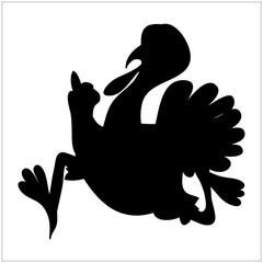 Turkey Silhouette Icon Symbol Design. Vector illustration isolat