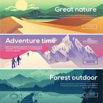 Design illustration for web design development, landscape graphi
