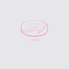 Pink Donut Icon