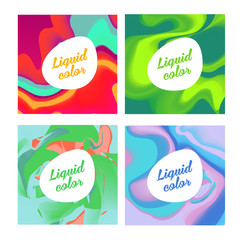 Liquid ink color. Modern style trends. Background for banner, ca