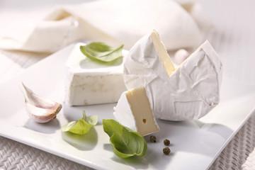 Camembert cheese white