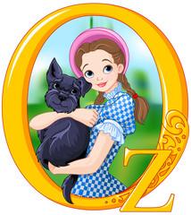 Printed kitchen splashbacks Fairytale World Dorothy and Toto
