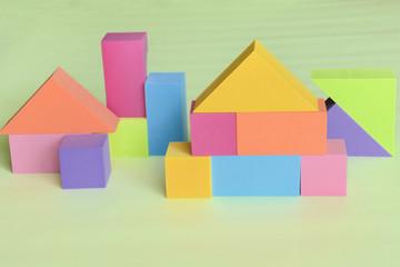 カラフルな積み木ブロック