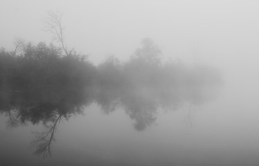 Island lost in fog