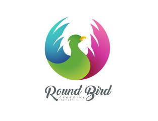 Round flying bird sign