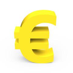 light yellow euro sign