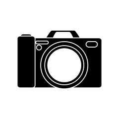 Camera icon. device gadget technology theme. Isolated design. Vector illustration