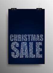 Vertical Poster Christmas Sale. Shopping Day.