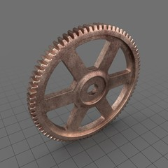 Aged Copper Spur Gear 1