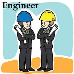 engineer cartoon vector character