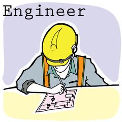 engineer cartoon vector character