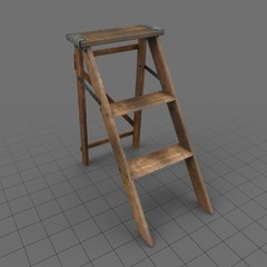 Wooden Step Ladder 1