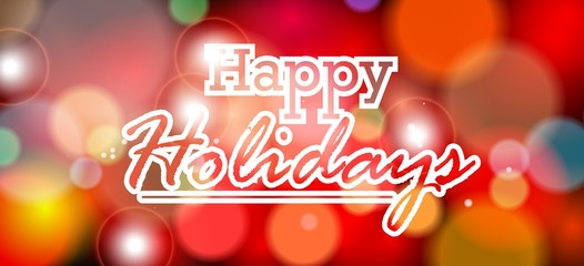 Happy Holiday background for you design