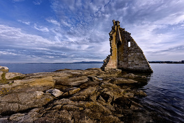 Ruins of San Saturn tower. Pontevedra, Spain