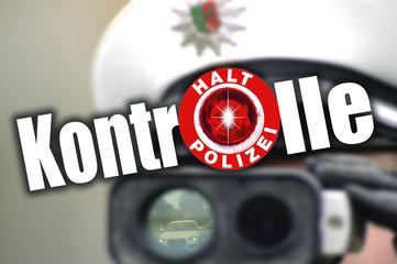 Halt Polizeikontrolle Geschwindigkeit