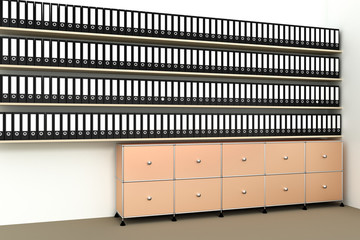 Archives, records storage, 3d illustration
