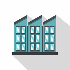Building icon. Flat illustration of building vector icon for web