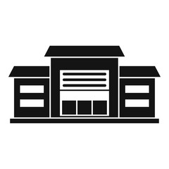Warehouse icon. Simple illustration of warehouse vector icon for web