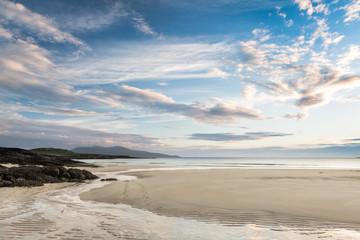 Low tide on Scottish beach