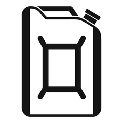 Flask for gasoline icon. Simple illustration of flask for gasoline vector icon for web
