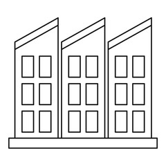 Building icon. Outline illustration of building vector icon for web