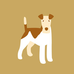 fox terrier vector illustration style Flat profile