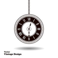 Vector vintage clock dial