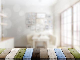 Empty tabletop. 3D rendering