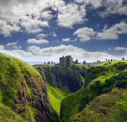 Dunnottar Castle in Stonehaven, Aberdeen, Scotland, United Kingdom