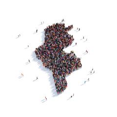 people group shape map Tunisia