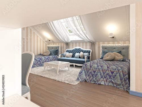 Luxury children 39 s bedroom for two kids with twin beds photo libre de droits sur la banque d for Luxury childrens bedroom furniture