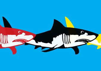 Requin pop art
