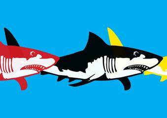 Requin pop art