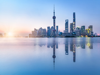 beautiful scene of the bund,shanghai,china.
