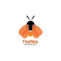 Fireflies Creative Concept Logo Design Template