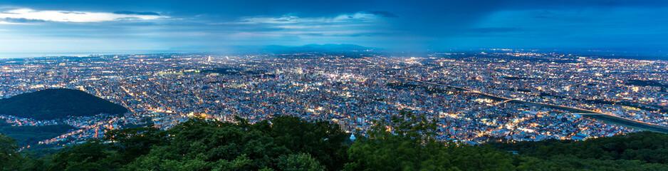 Cityscape of Sapporo at odori Park, Hokkaido, Japan Wall mural