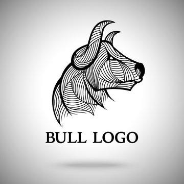 Vector Bull logo template for sport teams, business brands etc