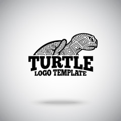 Vector Turtle logo template for sport teams, business etc