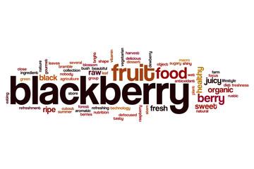 Blackberry word cloud