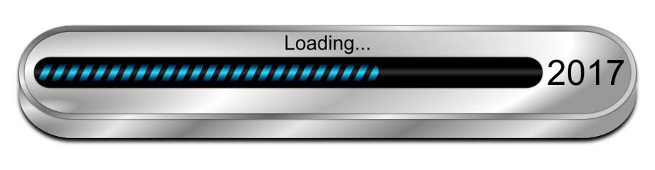 2017 Loading bar - 3D illustration