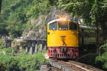 Tham krasae Railway River Kwai Kanchanaburi Thailand .