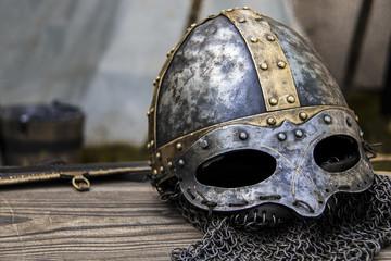 Ritterhelm aus dem Mittelalter