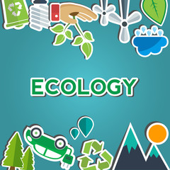 Environment and eco signs and symbols with text area